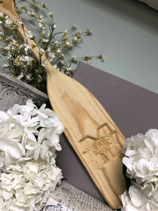 Wooden Novelty Paddle MSU