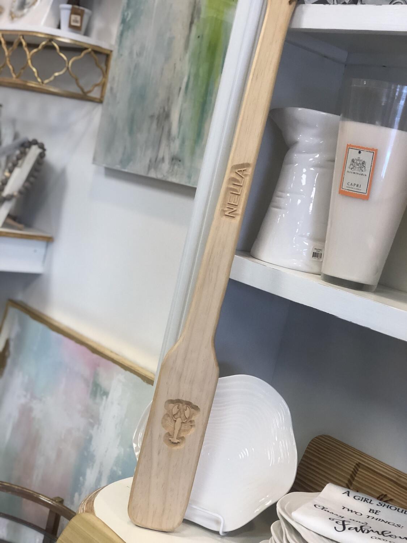 Wooden Novelty Paddle Custom Name Crawfish