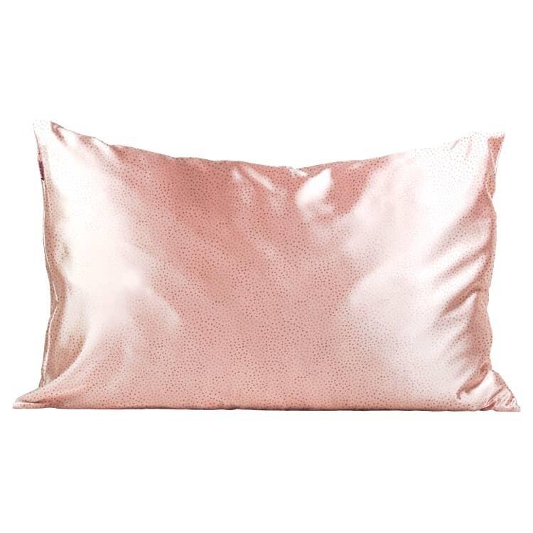Kitsch Satin Pillowcase Blush Micro Dot STANDARD