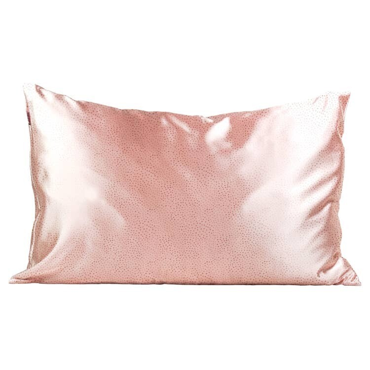 Kitsch Satin Pillowcase Blush Micro Dot STANDARD