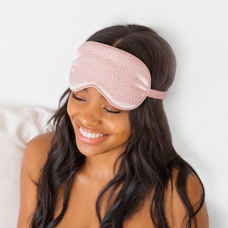 Kitsch Satin Eye Mask Blush Micro Dot