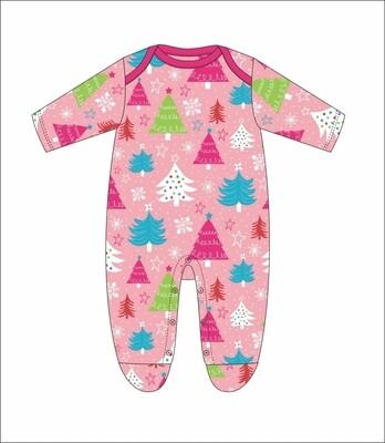 JM Christmas Onesie Pink 20 Month