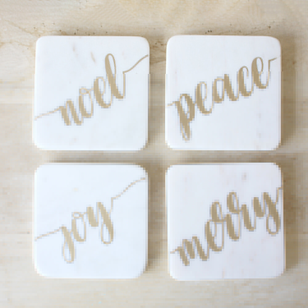 TRS Christmas Marble Coasters