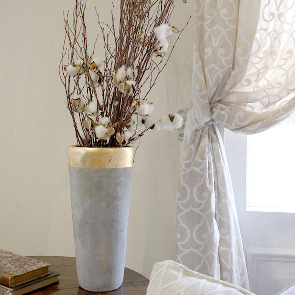 TRS Stockolm Gold Rimmed Vase