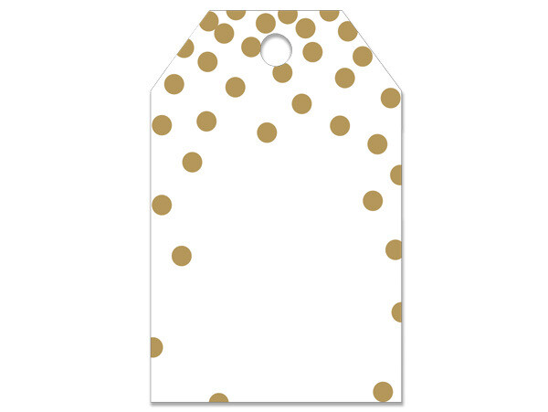 50 Gift Tags Gold Dots