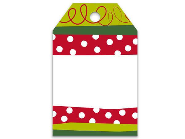 50 Gift Tags Christmas Stripe