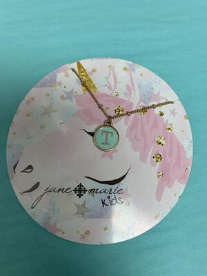 JM Initial Necklace Unicorn T