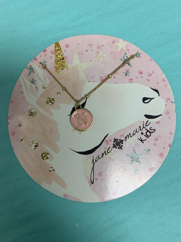JM Initial Necklace Unicorn N