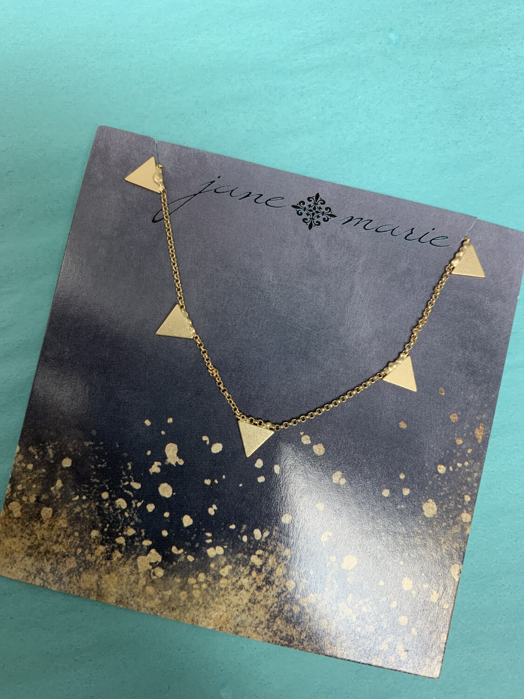 JM Necklace Triangle Drop