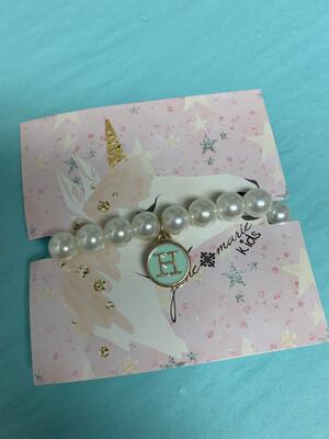 JM Initial Pearl Bracelet H