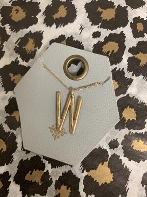 JM Initial Necklace W