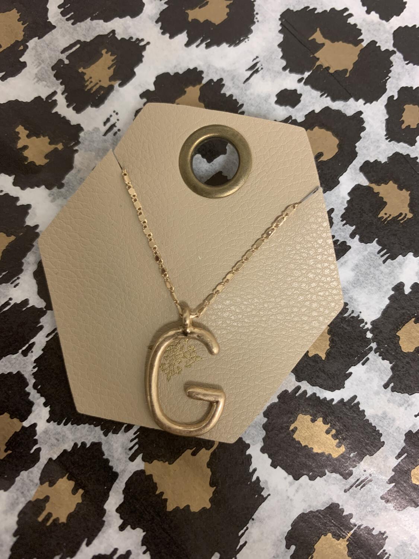 JM Initial Necklace G