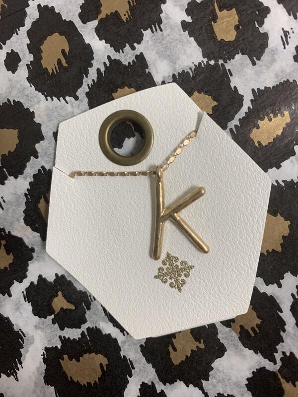 JM Initial Necklace K