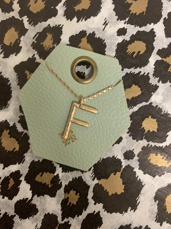 JM Initial Necklace F