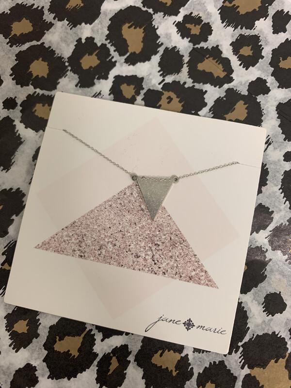 JM Necklace Silver Triangle
