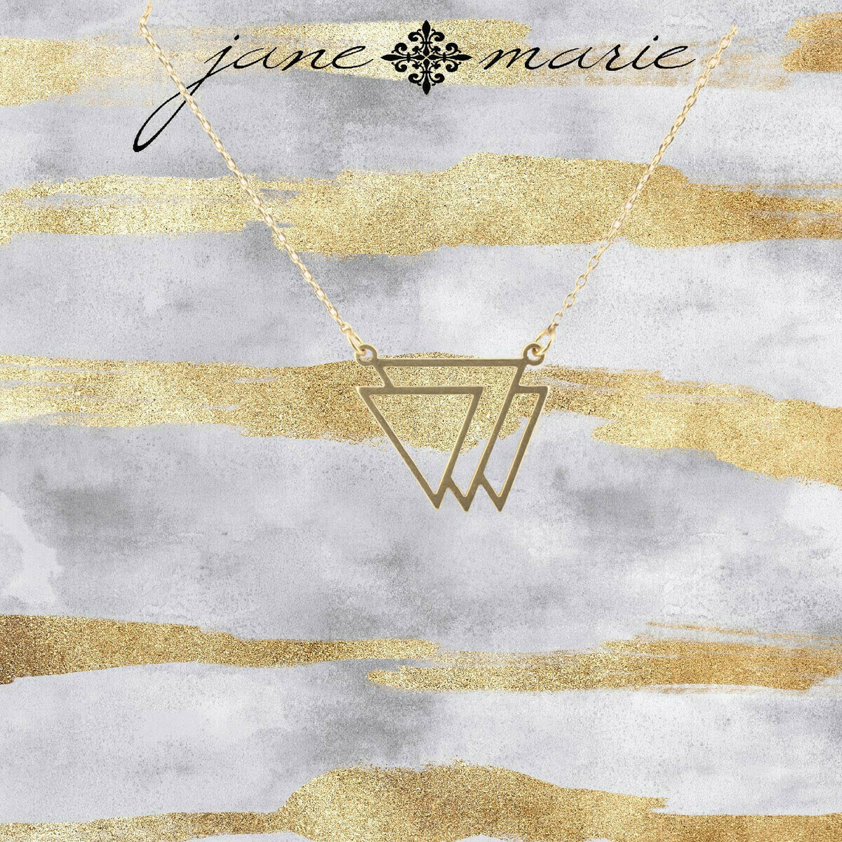 JM Necklace Triangle Trio