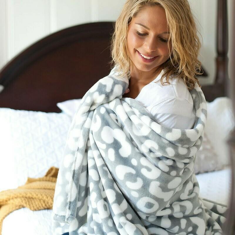 VL Leopard Blanket Gray