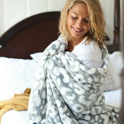 VL Blanket Leopard Gray