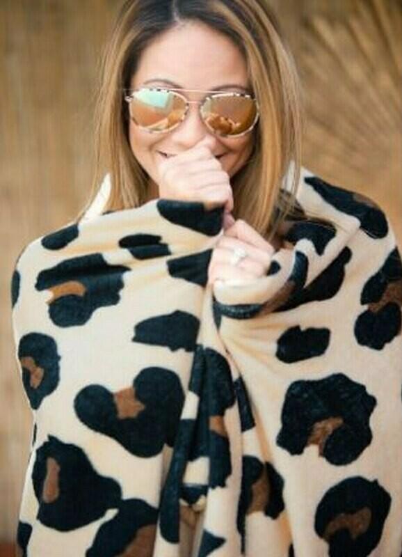 VL Leopard Blanket Brown