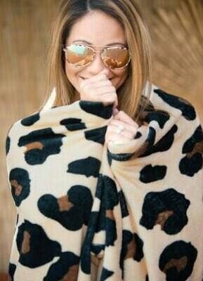 VL Blanket Brown Leopard