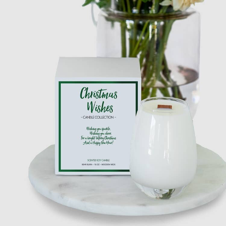 Gratitude Candle Christmas Wishes