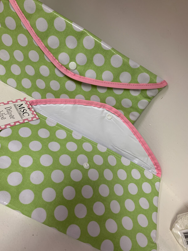 Envelope Pouch Pink/Green