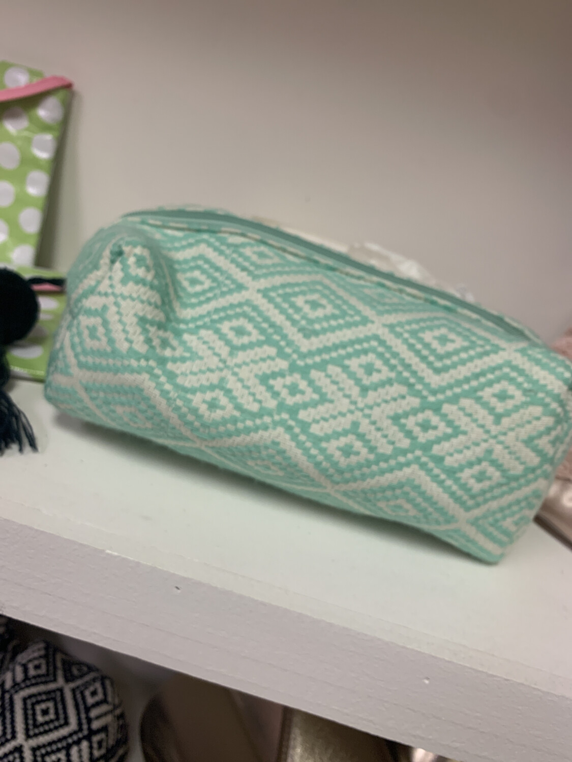 MP Woven Cosmetic Case Green