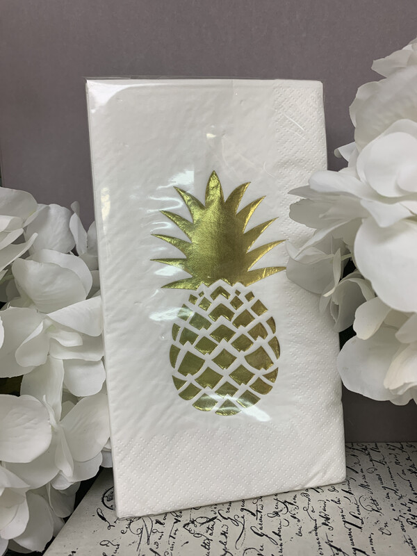 Napkins Gold Pineapple Guest