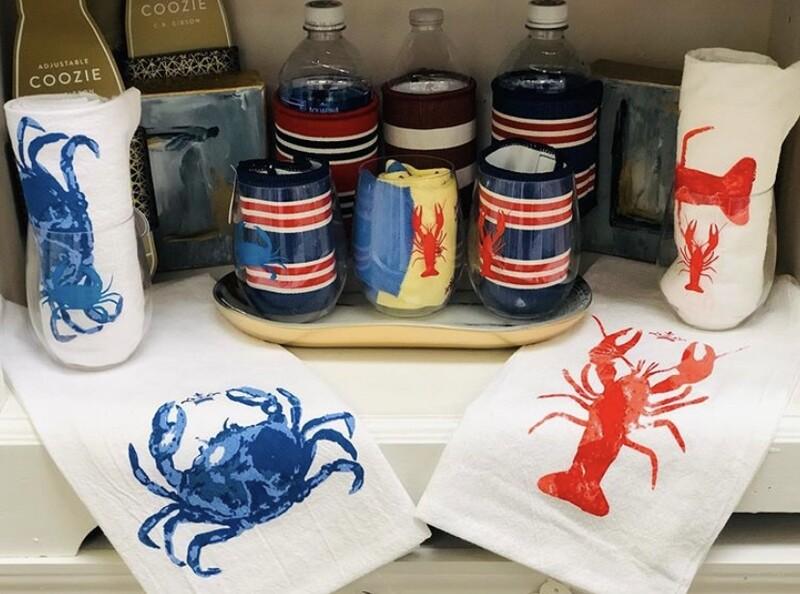 TRS Watercolor Crab Towel