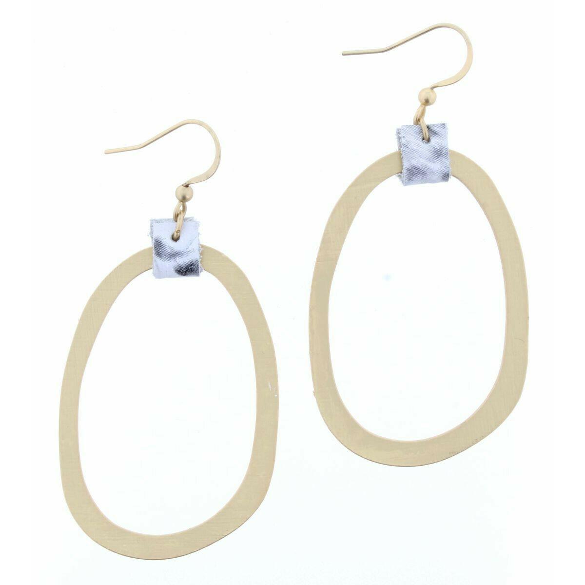 JM Earrings Snakeskin Oval