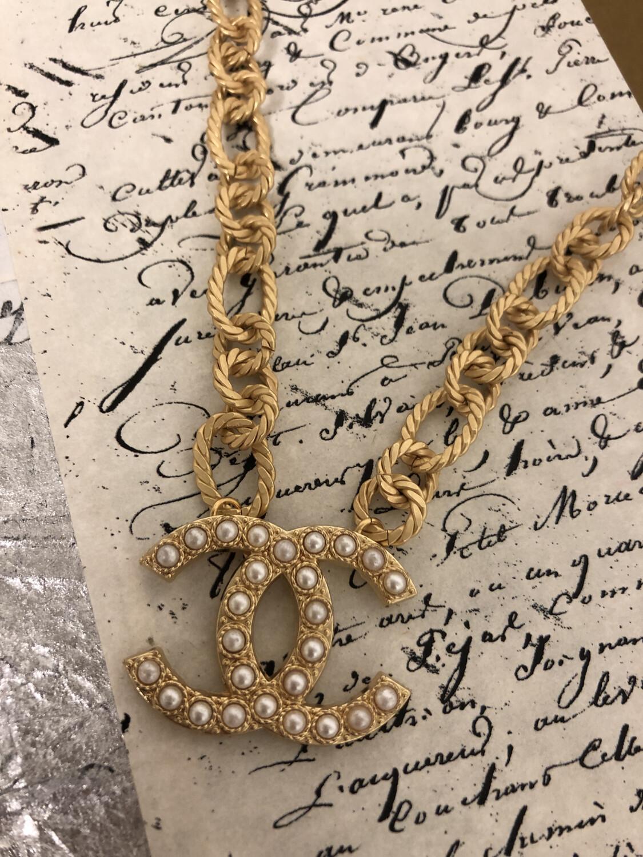 Designer Necklace CC Large Pearl