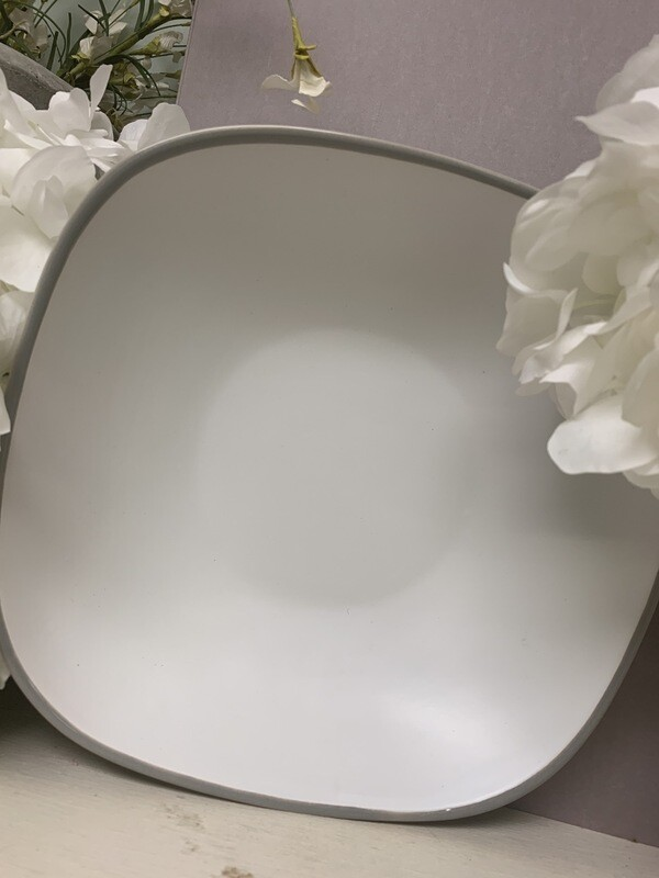 Gray Lined Large Bowl