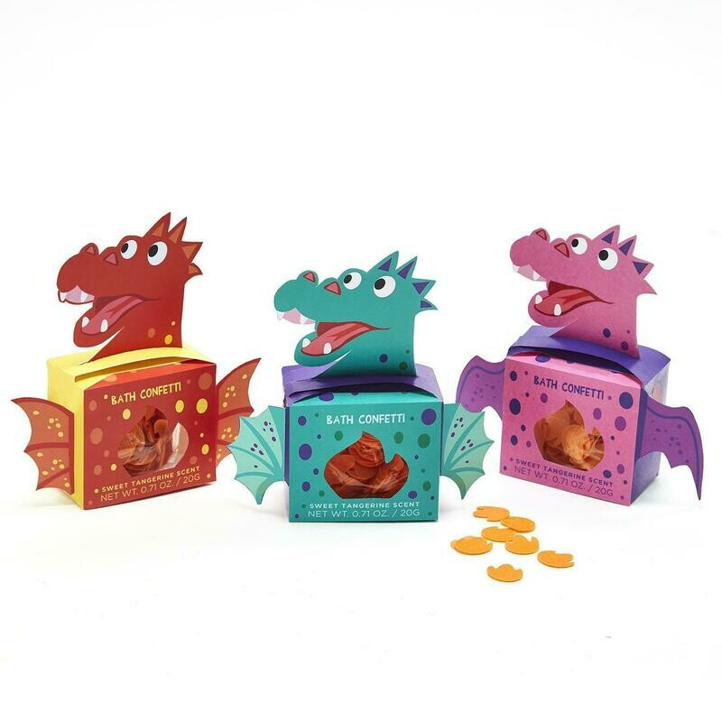 Dragon Bath Confetti Orange