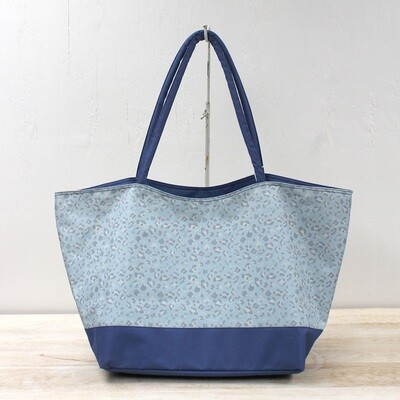 TRS Navy Leopard Tote