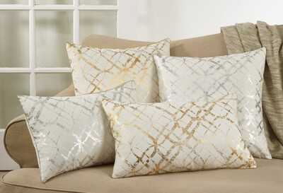 """SS 9283 20"""" Pillow Cover Gold"""