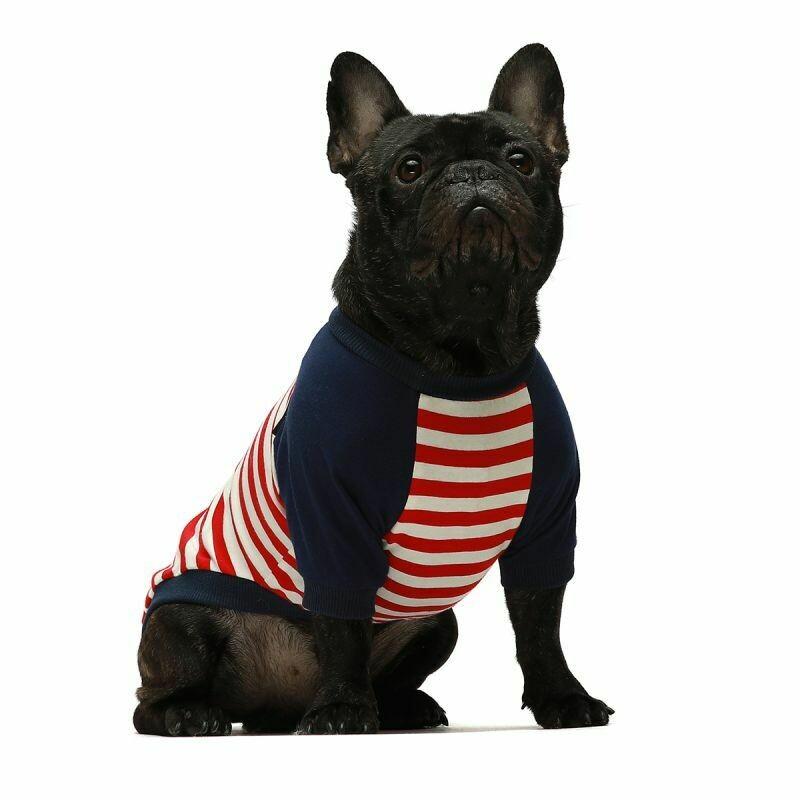 FW Dog Clothes Red Stripe Medium