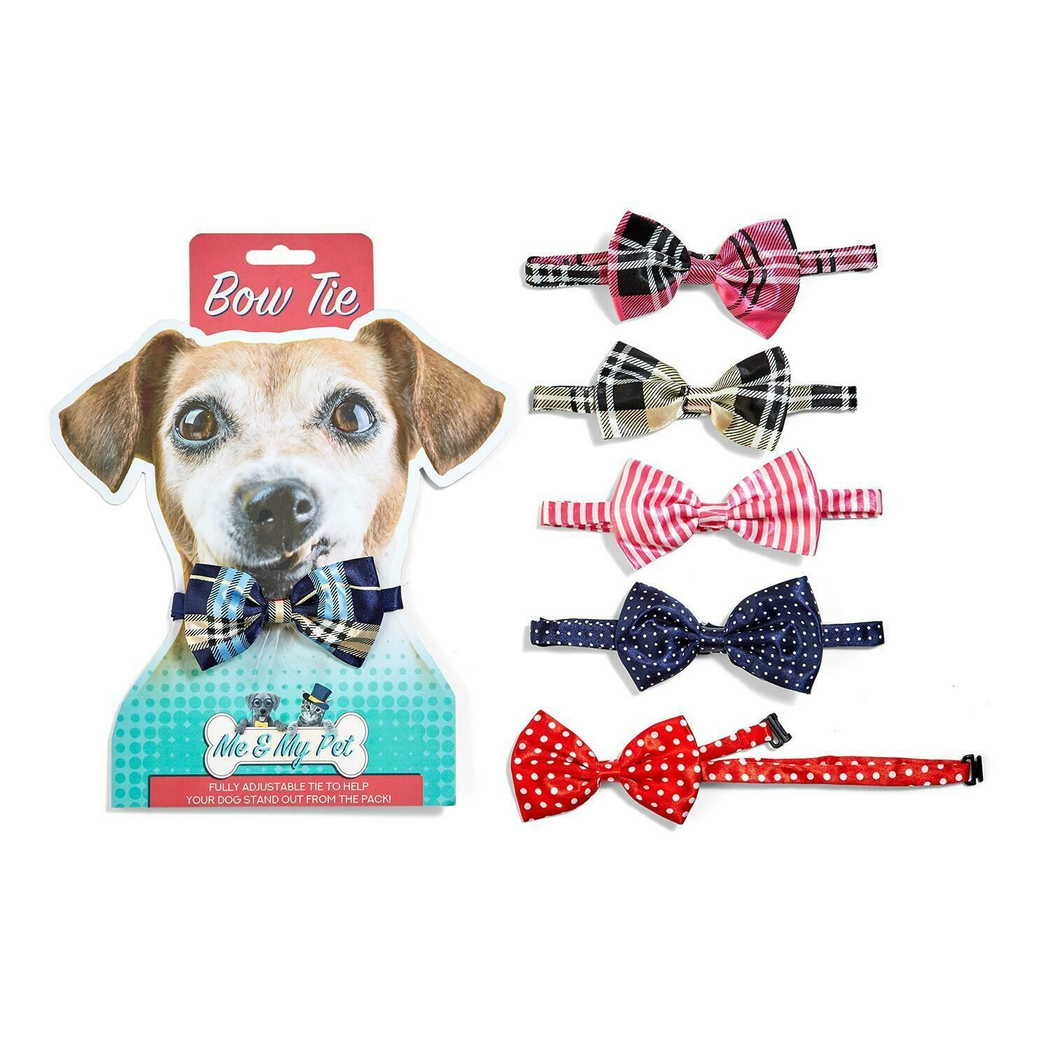 TC Me and My Pet Bow Tie Pink Stripe