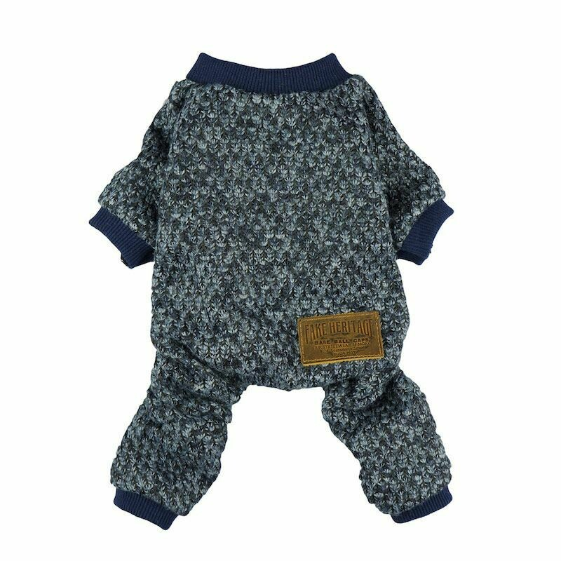 FW Dog Clothes Knitted Blue Medium