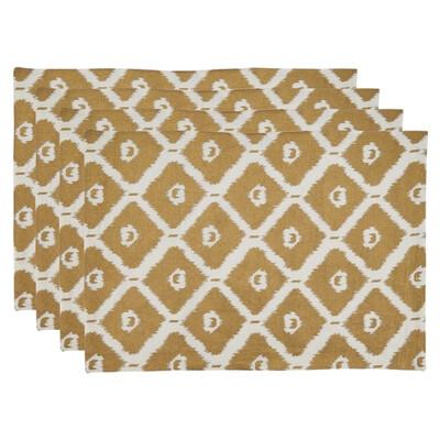 SS 999 14x20 4-Piece Placemat Gold