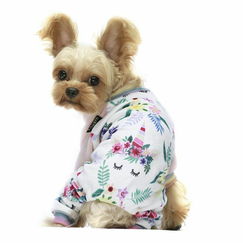 FW Dog Clothes Floral Unicorn Small