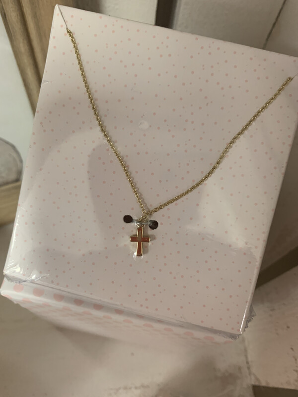 MP First Cross Necklace