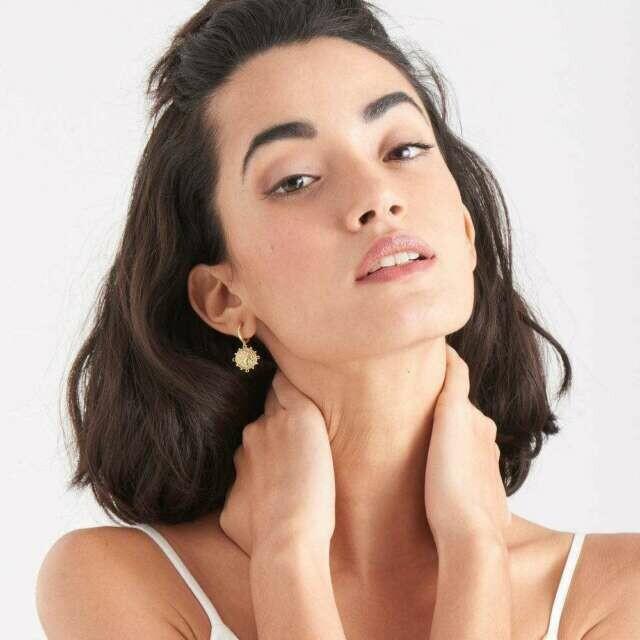 Ania Haie Victory Goddess Mini Hoop Earrings Gold