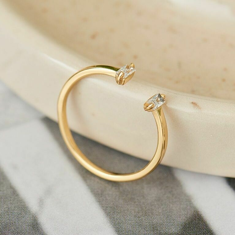 Ania Haie Glow Adjustable Ring Gold