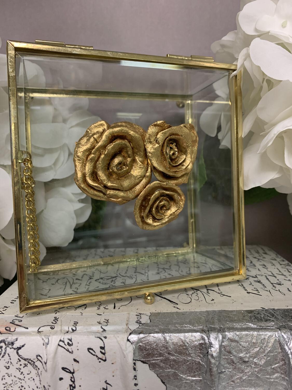 Designer Jewelry Box Clear Rose