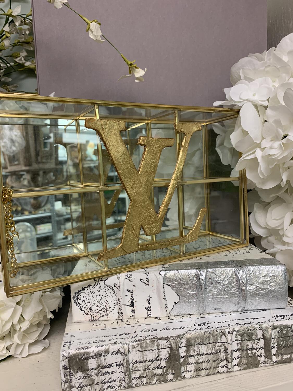 Designer Jewelry Box Clear LV Large