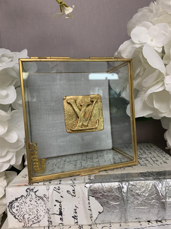Designer Jewelry Box Clear LV