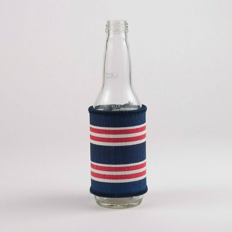 TRS Red & Blue Stripe Can Cooler