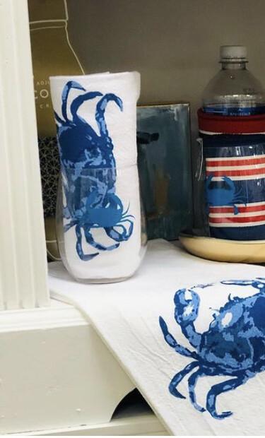 Mens Towel Cup Set Crab