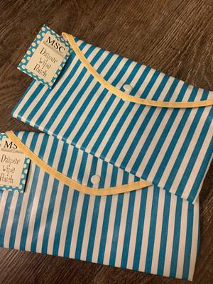 Envelope Pouch Blue Stripe
