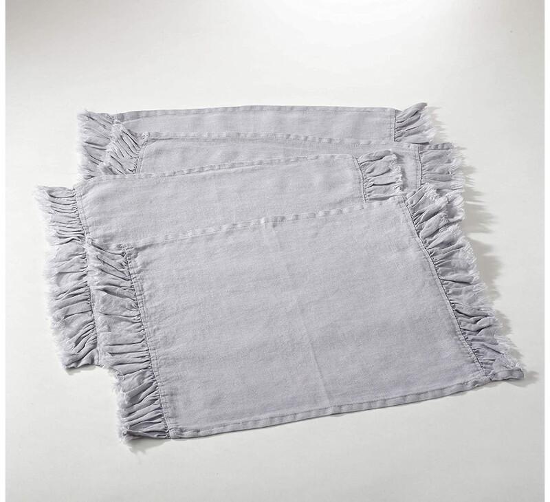 SS 13067 4 Piece Place Mat/Napkin Set Fog